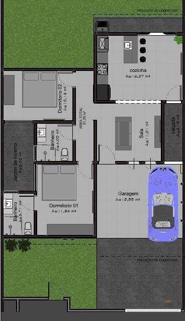 Casa com 2 dorms, JARDIM EUROPA, Primavera do Leste - R$ 360 mil, Cod: 404