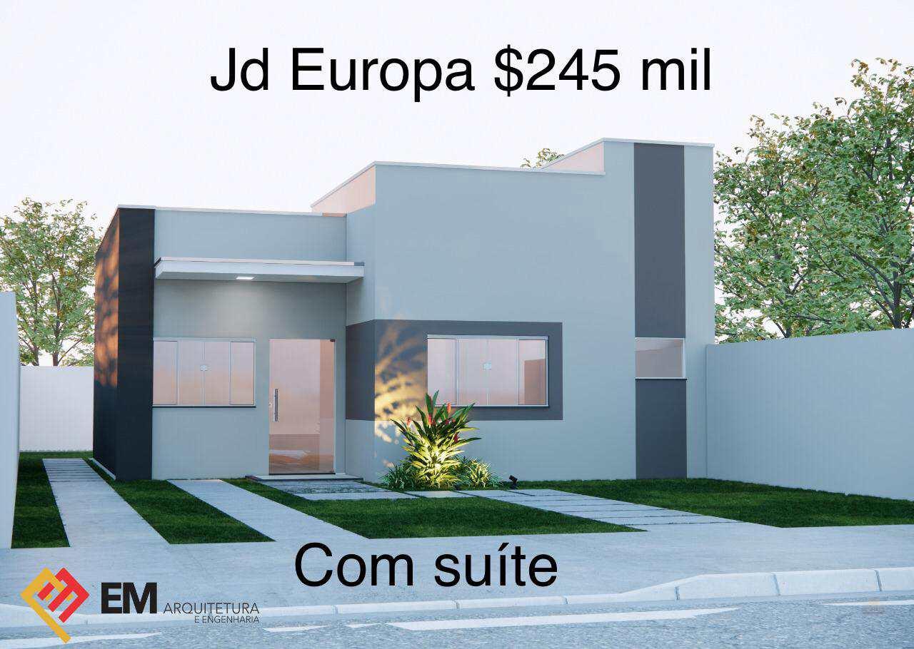 Casa com 1 dorm, JARDIM EUROPA, Primavera do Leste - R$ 245 mil, Cod: 412