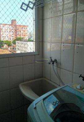 Apartamento com 2 dormitórios à venda, 68 m² por R$ 350.000 - Encruzilhada - Santos/SP