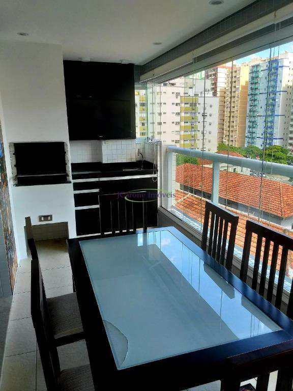 Apartamento com 1 dormitório à venda, 64 m² por R$ 455.000 - Pompéia - Santos/SP