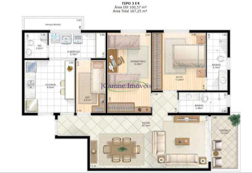 Apartamento com 2 dorms, Embaré, Santos - R$ 1.03 mi, Cod: 64152860