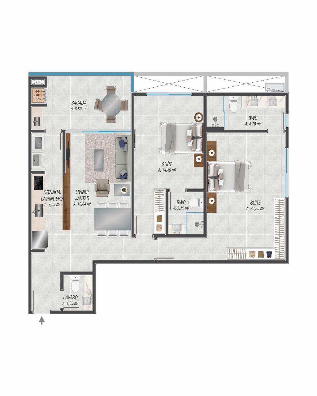 Apartamentos a venda em Jurere Internacional