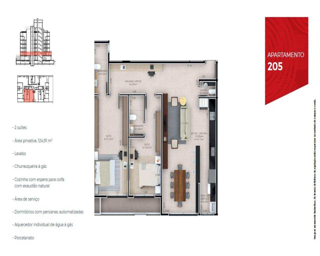 Apartamento com 3 quatos, Jurerê Internacional, Florianópolis