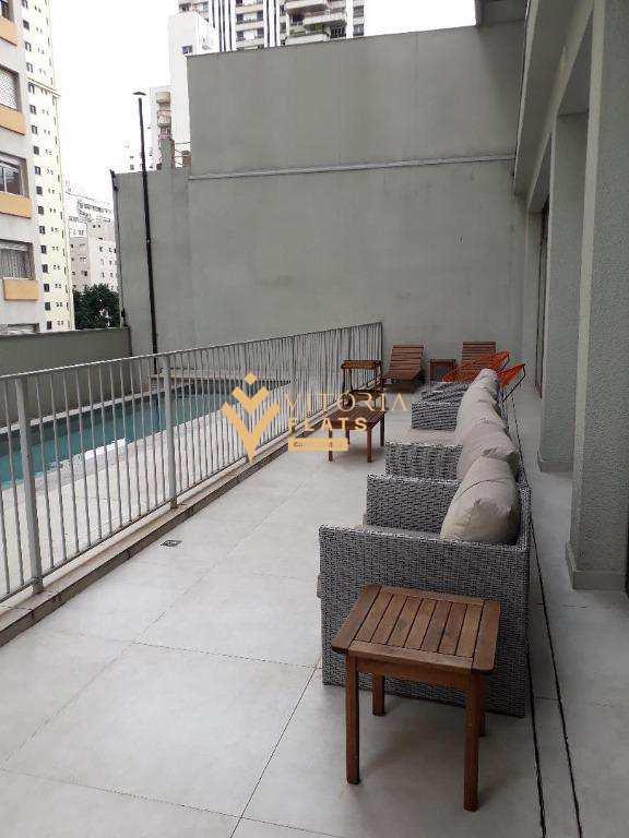 Flat com 1 dormitório para alugar por R$ 5.300,00/mês - Jardins - São Paulo/SP