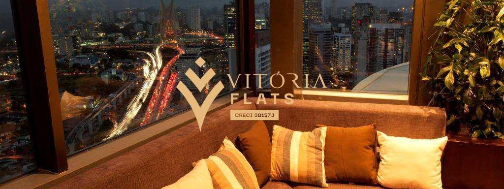 Flat residencial para locação, Brooklin Paulista, São Paulo.
