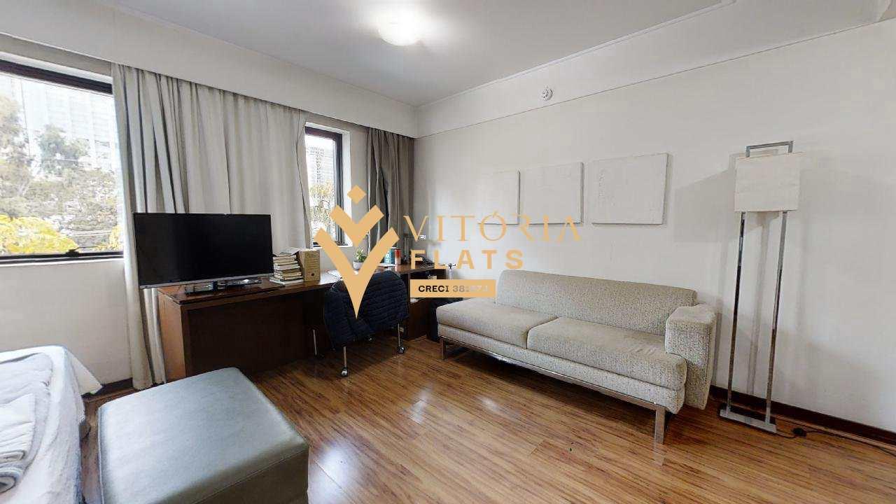 Flat com 1 dorm, Moema, São Paulo - R$ 240 mil, Cod: 64426490
