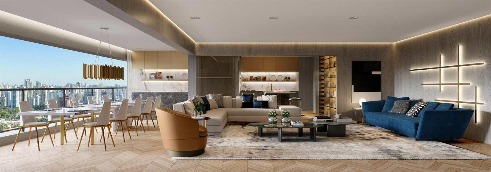 Living Ampliado Apto 158 m²