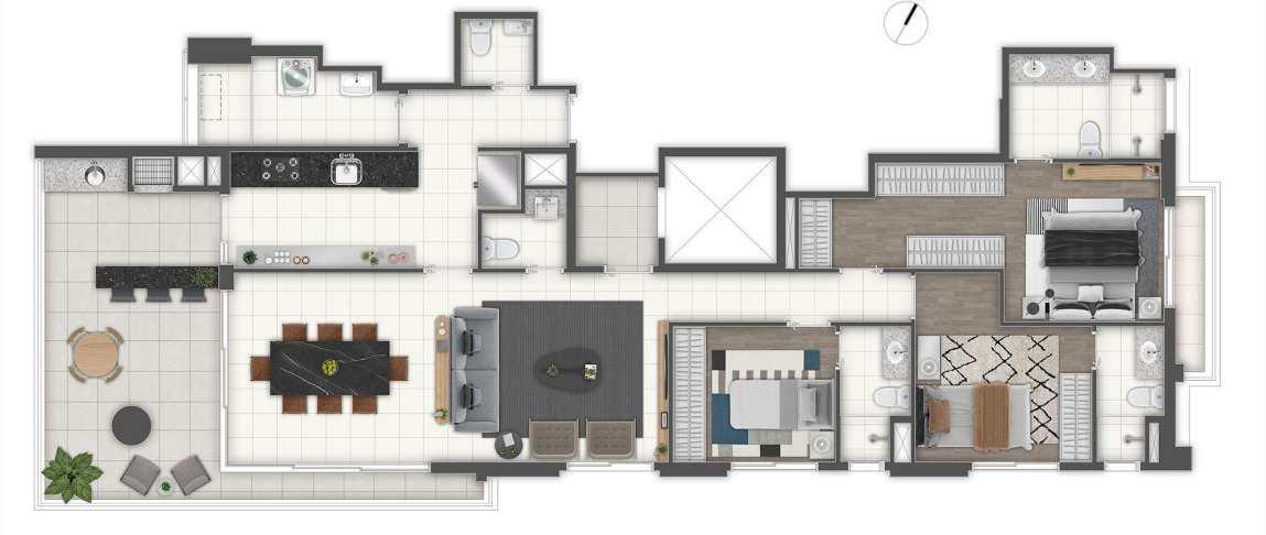 Apartamento com 3 dorms, Vila Mascote, São Paulo - R$ 1.37 mi, Cod: 53