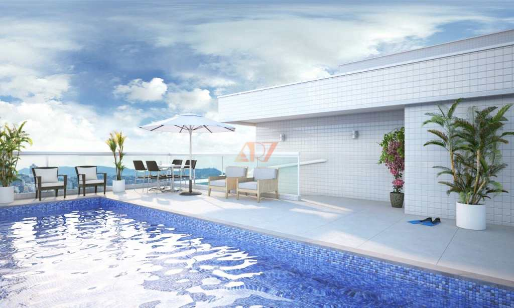 Apartamento com 2 dorms, Caiçara, Praia Grande - R$ 432 mil, Cod: 2423