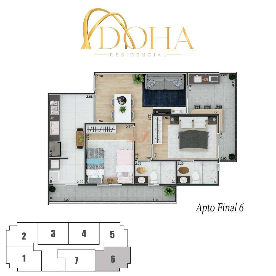 Apartamento com 2 dorms, Canto do Forte, Praia Grande - R$ 382 mil, Cod: 2445
