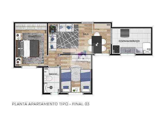Apartamento em Belo Horizonte bairro Colégio Batista