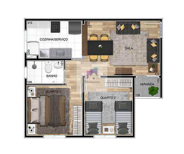 Apartamento em Contagem bairro Nacional