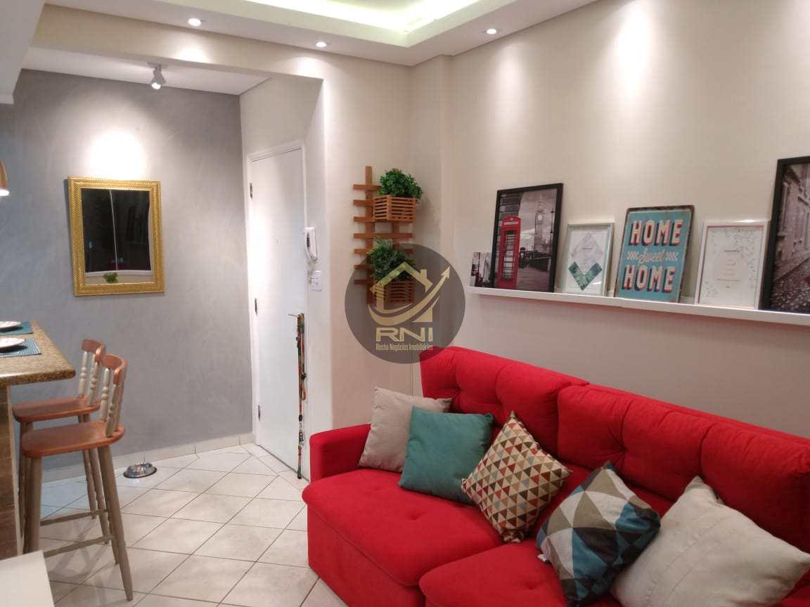 Apartamento com 1 dorm, Gonzaga, Santos - R$ 285 mil, Cod: 7