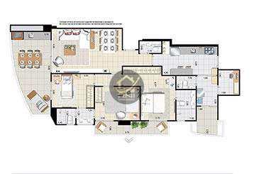 Apartamento com 3 dormitórios à venda, 118 m² por R$ 1.159.942,00 - Boqueirão - Santos/SP