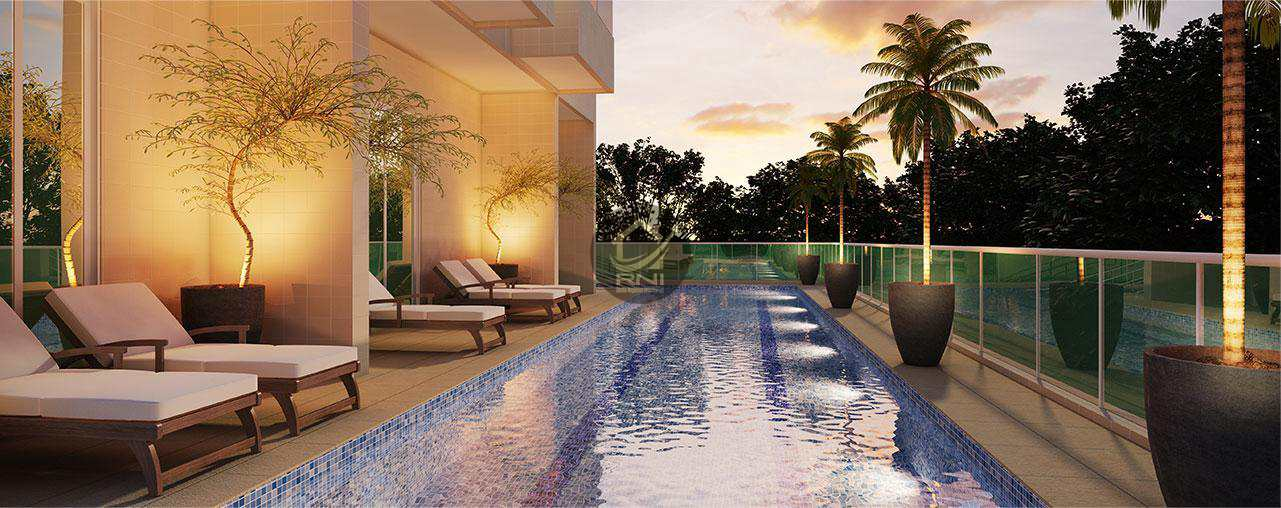 Apartamento com 3 dormitórios à venda, 106 m² por R$ 856.432,00 - Ponta da Praia - Santos/SP
