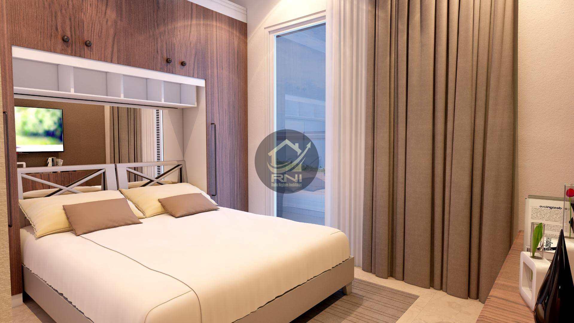 Apartamento com 2 dormitórios à venda, 71 m² por R$ 348.469,37 - Vila Guilhermina - Praia Grande/SP