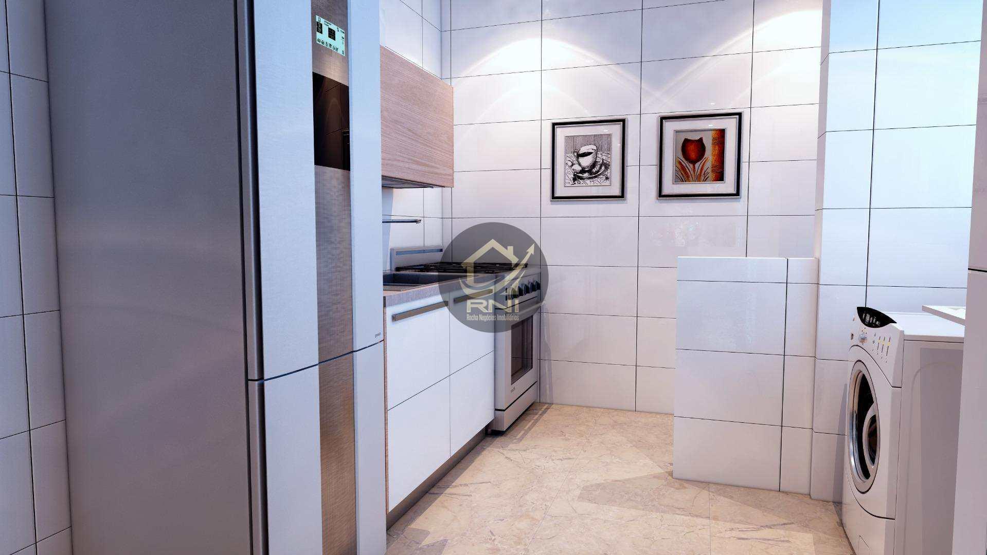 Apartamento com 2 dormitórios à venda, 79 m² por R$ 365.771,87 - Vila Guilhermina - Praia Grande/SP