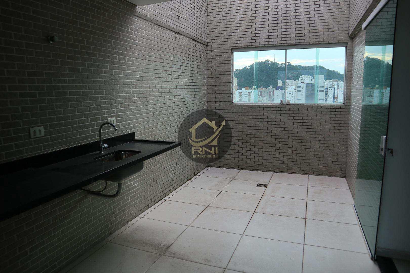 Apartamento Duplex com 2 dormitórios à venda, 85 m² por R$ 510.000,00 - Campo Grande - Santos/SP